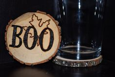 Handcrafted 'Halloween' Woodburned Coasters by ZSDesign on Etsy
