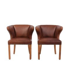 1940s Pair of Armchairs Attributed Frits Henningsen   From a unique collection of antique and modern armchairs at https://www.1stdibs.com/furniture/seating/armchairs/