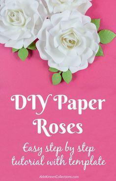 DIY paper rose tutorial. Small paper rose step by step instructions.