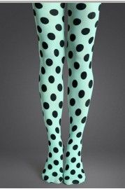 Bright color tights crafted in nylon, featuring all over polka dot detail to the seamless panel, chic and easy matching, in a soft and stretch fit.