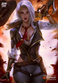 Ashe Overwatch by logancure on DeviantArt Fantasy Girl, Chica Fantasy, Fantasy Warrior, Fantasy Women, Anime Fantasy, Female Character Design, Character Art, Fantasy Characters, Female Characters