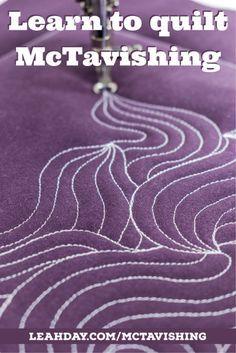 how to quilt mctavishing | quilting tutorial