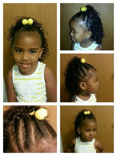 Side Twists With Curls Mixed Babies Hairstyles Mixed Hair Care