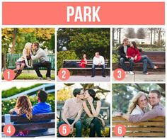 "101 Tips and Ideas for Couples Photography | The Dating Divas ~Haha, @Scott F Vintage Buchhop does this remind you of our ""I'mmmmmmmmmmm sitting on a bench"" discussion we had about these shots?! haha  They definitely aren't ""I'mmmmmm sitting on a bench.""  They are creative!!"