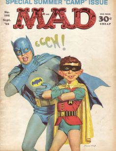 Mad magazine, September 1966, illustrated by Norman Mingo. In 1956 Mingo was selected to create a warmer, more polished version of Alfred E. Neuman, a public domain character the magazine had been using.