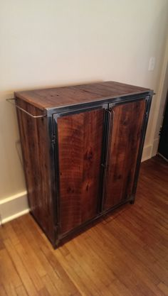 The Taylor...a liquor cabinet.  Handmade by Metal Fred Designs Inc. in Nashville, TN