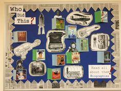 Biography display board.