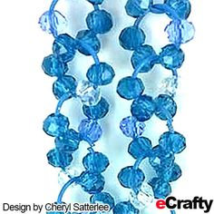 TUTORIAL: DIY Waterfall Crystal Earrings Recipe from eCrafty.com | DIY Jewelry & Crafts from eCrafty.com #aqua #blue #crystal #diyearrings #waterfall #jumprings #chainmaille #diyjewelry #jewelrysupplies #crafts #beading #handmade #etsy