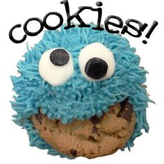 Cookie Monster Cupcake is one of our most popular among children!