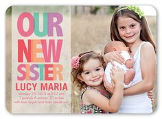 Our New Sister 5x7 Stationery Card by Hello, Kelle | Shutterfly