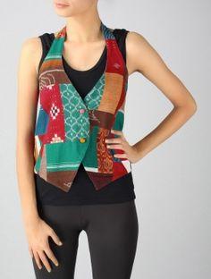 Boheme Halter-Neck Patchwork Jacket-S
