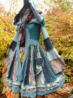 QUIRKY PATCHWORK PIXIE ELF COAT FREESIZE STEAMPUNK LAGENLOOK PAGAN LARP  COSPLAY  439a361af