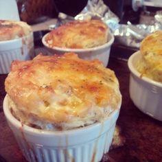 New #foodie #blog. The ultimate confort food: Baked Mac 'n' Cheese a la #ramekins. Waistline saver. www.buffysgoodies.wordpress.com.