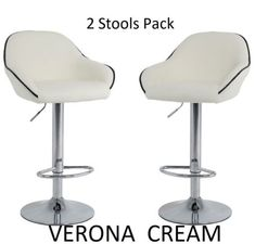 A-PAIR-OF-CREAM-Bar-Stools-Barstools-Kitchen-Pub-Stool-Breakfast-Bar-Chairs-Bar Cream Bar Stools, Pub Stools, Breakfast Bar Chairs, Breakfast Bars, Bars For Home, Kitchen, House, Furniture, Home Decor