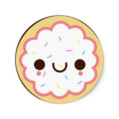 Happy cookie with sprinkles Scrapbooking clipart