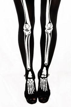 For the skeleton girls! Skeleton Tights, Skeleton Girl, Halloween 4, Halloween Costumes, Alternative Fashion, Alternative Style, Pearl Stud Earrings, Dress Codes, Attitude