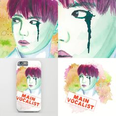 my watercolor painting of #d.o. #exo #dokyungsoo #kpop #watercolor #society6