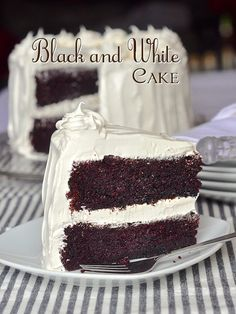 Black and White Cake is an all time kid favorite. An easy one-bowl chocolate cake covered in fluffy marshmallow frosting is sure to please kids of all ages.