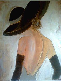 TABLEAU FEMME ROMANTIQUE - TABLEAU CONTEMPORAIN - PEINTURE ACRYLIQUE : Peintures par sonia-creation