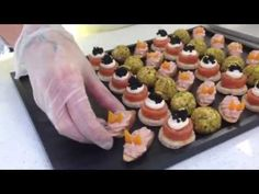 Canapes on presentation tray by Ideal Party - YouTube