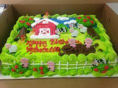 Farm Birthday Cakes, Animal Birthday Cakes, Farm Animal Birthday, Boy Birthday Parties, 2nd Birthday, Cake Decorating For Beginners, Cake Decorating Techniques, Buttercream Fondant, Cupcake Cakes