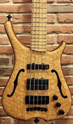 "Framus & Warwick Infinity 5 strings 3/8"" Birdseye Maple Natural Transparent High Polish"
