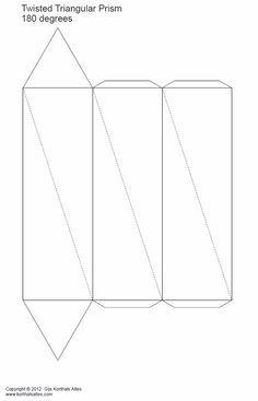 Twisted triangular prism, triangular antiprism, & triangular prism ...