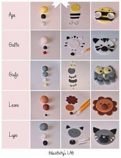 My Owl Barn: tutorial fondant animal cupcake toppers Fondant Figures, Cupcake Tier, Cupcake Cakes, Diy Cupcake, Car Cakes, Fondant Toppers, Fondant Cakes, Fondant Recipes, Cake Fondant