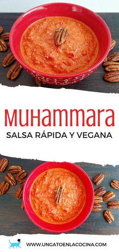 Muhammara: salsa rápida y vegana