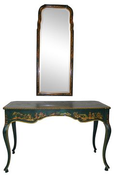 From Nomadic Vintage on One Kings Lane - Beyond the Looking Glass - Chinoiserie Dressing Table