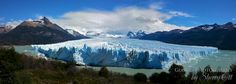 The gigantic Pertio Moreno Glacier in Argentina