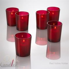 Red Votive Candle Holder Colored Glass Set of 12 for $7 (cocktail tables?)