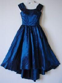 midnight blue prom dress