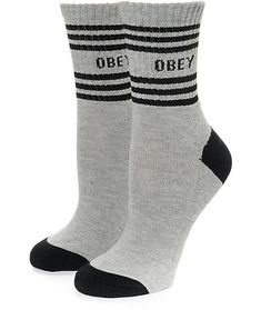 Spoil your feet with the Taylor crew socks from Obey. A black mid shin length sock accented with a golden yellow toe, heel and cuff detail features a soft padded heel and footbed for your fashion and comfort needs.