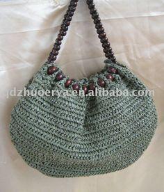 saco de crochê com miçangas de madeira - portuguese.alibaba.com