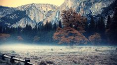 Yosemite Falls in Autumn