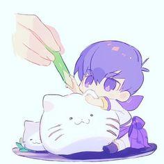 Read ichimatsu from the story ❤Osomatsu-san imagenes❤ by Marianalolmiau (Mrs. Kawaii Chibi, Cute Chibi, Kawaii Art, Anime Chibi, Kawaii Anime, Pikachu, Ichimatsu, Bishounen, Dope Art