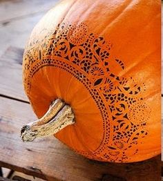 Doilies and paint, great idea!