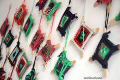 Decorazioni natalizie mandala / acchiappasogni fatte con i bambini di una scuola elementare