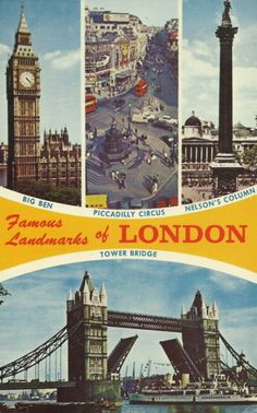 Famous Landmarks of London I've seen all of these!!!!!!!!