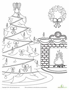 Victorian Christmas Coloring Pages  victorian christmas colouring