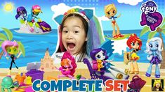 My Little Pony Equestria Girls Beach Set Complete Toys Unboxing