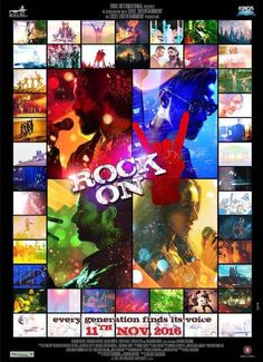 The second poster of Rock On 2 is a beautiful mix of colors and melodies!