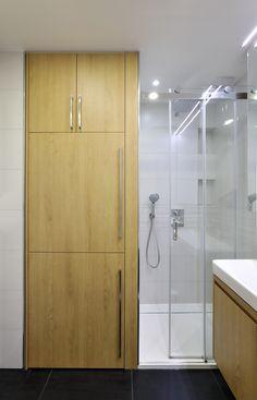 Washing Machine And Dryer, Divider, House Design, Bathroom, Furniture, Home Decor, Washroom, Decoration Home, Room Decor