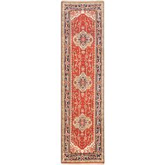 eCarpetGallery Serapi Heritage Brown Wool Hand-knotted Rug (2'8 x 9'10)