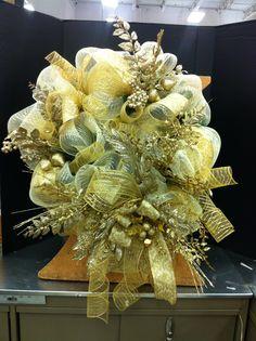 Gold Christmas wreath... Norma gordon