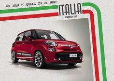 De première van de nieuwe Fiat 500L vindt plaats op zondag 24 juni tijdens het spectaculaire event Italia a Zandvoort 2012.