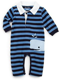 Infant's Striped Whale Romper on shopstyle.co.uk