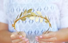 Oversized Leaf Crown - Gold, Silver, or Rose Gold