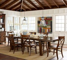 Beautiful Open Concept Dinning Roompottery Barn Tablegriffin Gorgeous Dining Room Pottery Barn Review